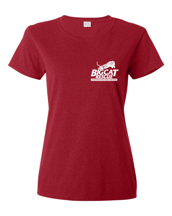 Shirt - Big Cat Rescue Logo Front & Back Print Women's Scoop