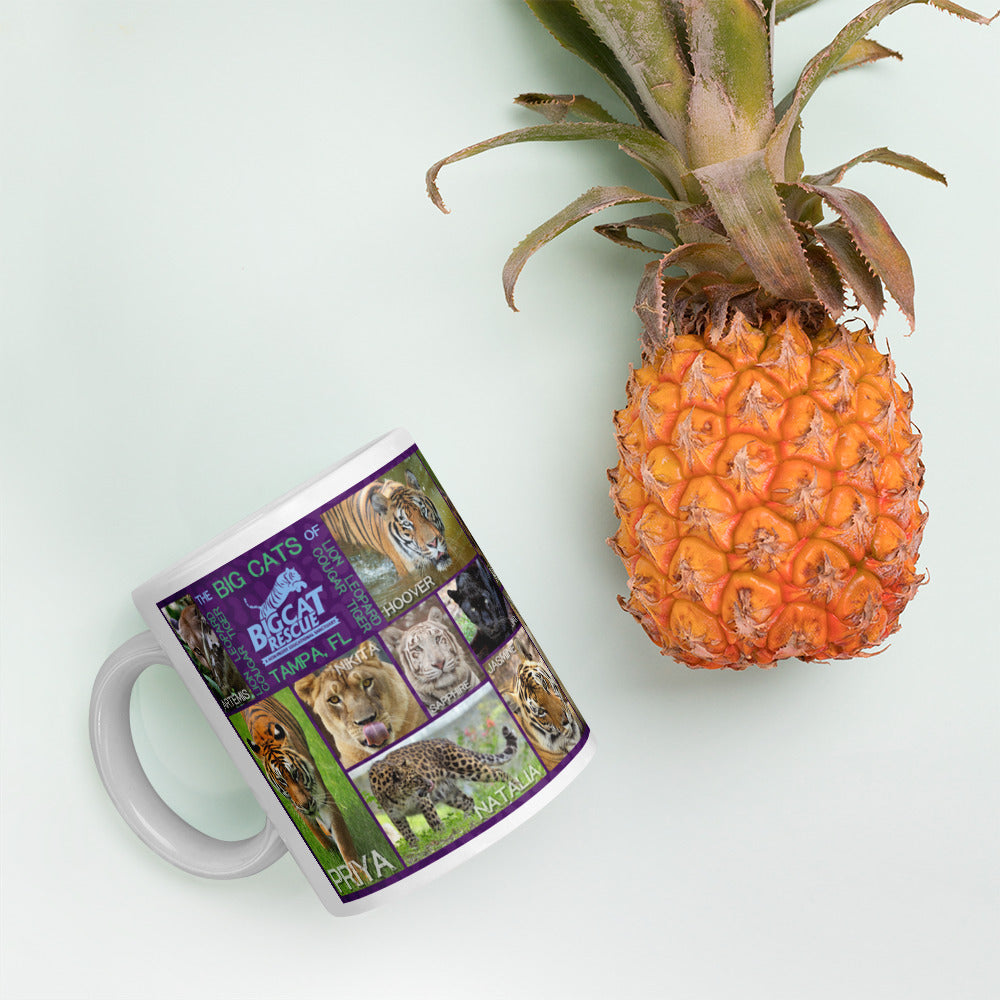 Mug - Big Cats Purple
