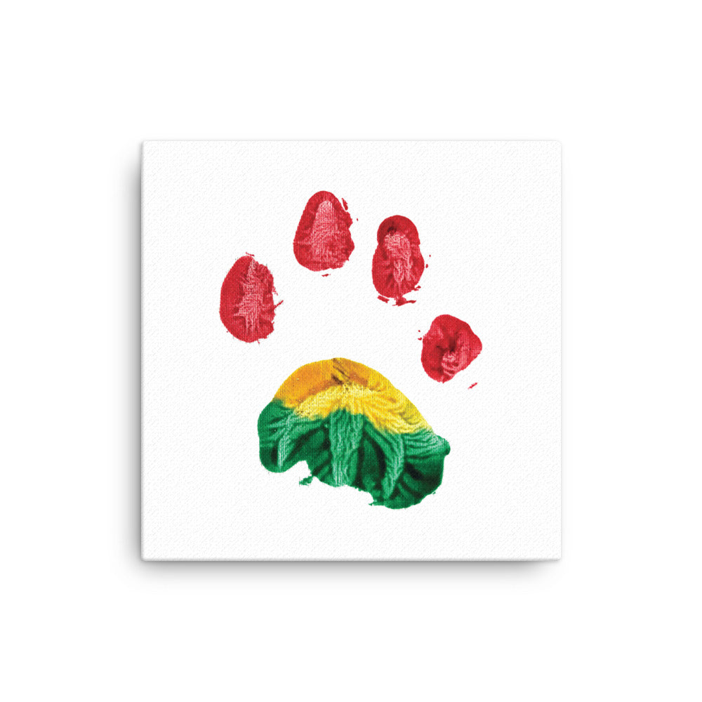 Canvas - Rasta Lion Paw Print
