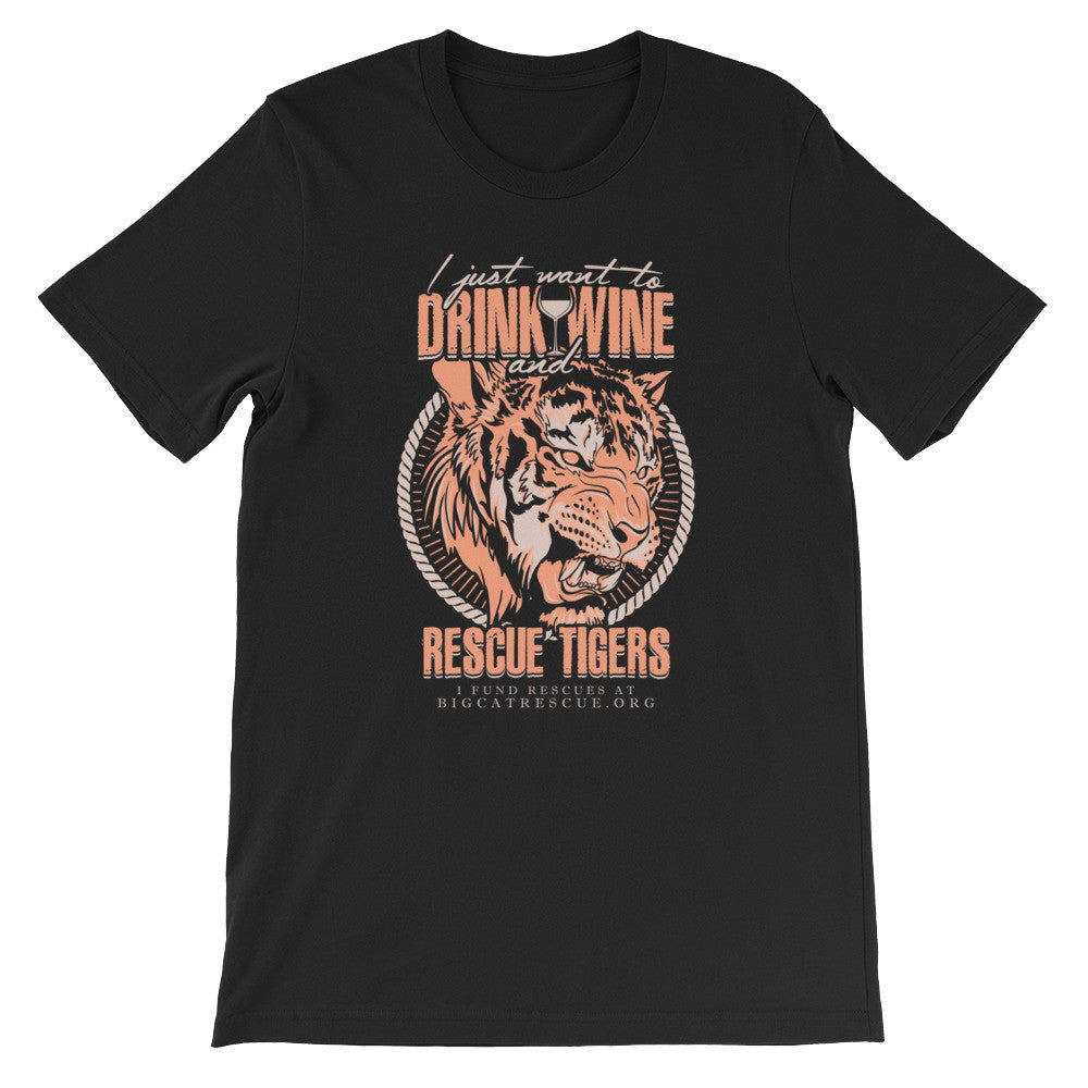 Shirt - Drink Wine & Rescue Tigers