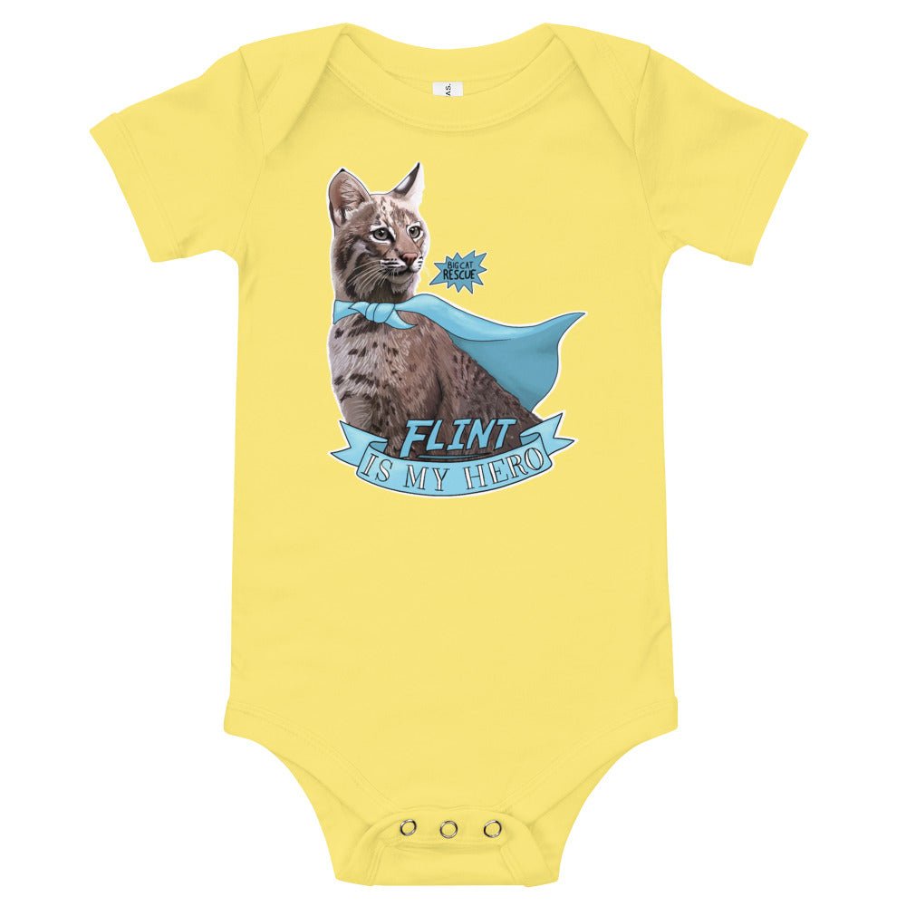 Baby - Flint Bobcat is my Hero Onesie