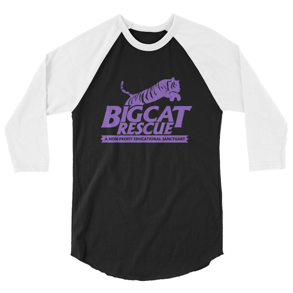 Shirt - Big Cat Rescue Logo 3/4 Sleeve
