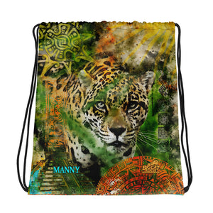 Bag - Jaguar Ancient Ruins Drawstring
