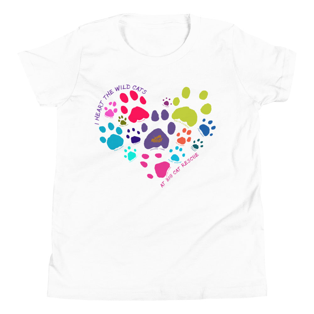 Kids Shirt - I Heart Big Cats Youth Tee