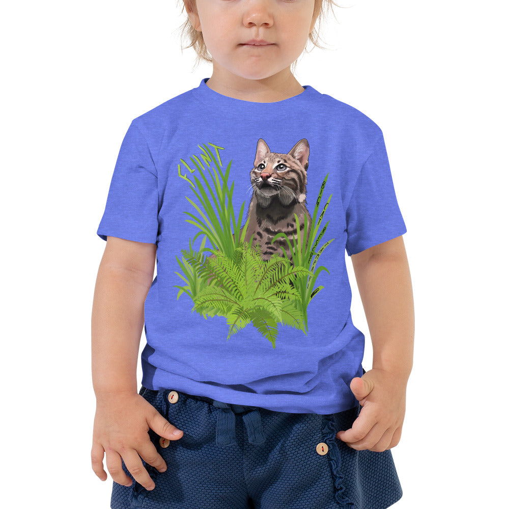 Kids Shirt - Flint the Curious Bobcat Toddler Tee