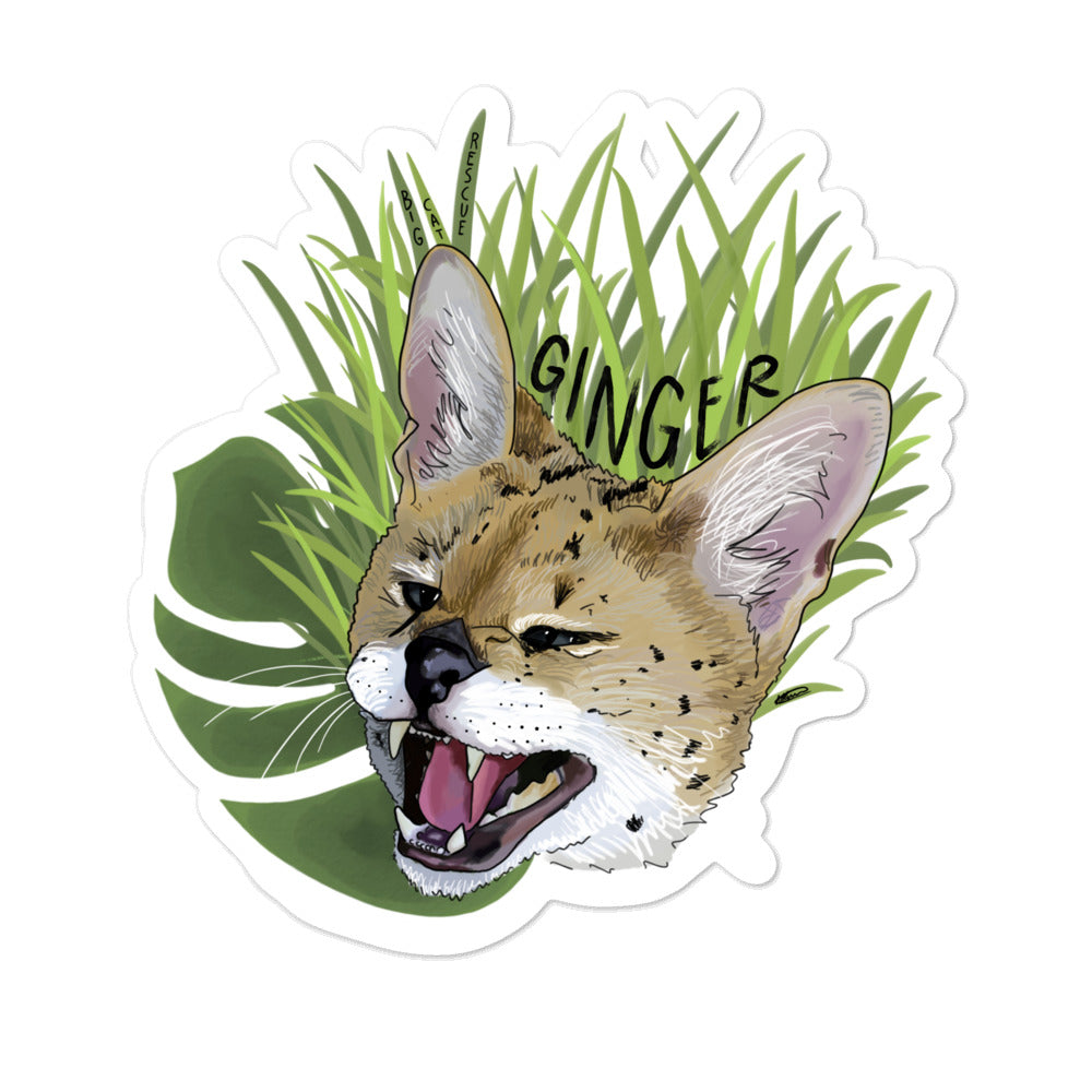 Sticker - Ginger Serval