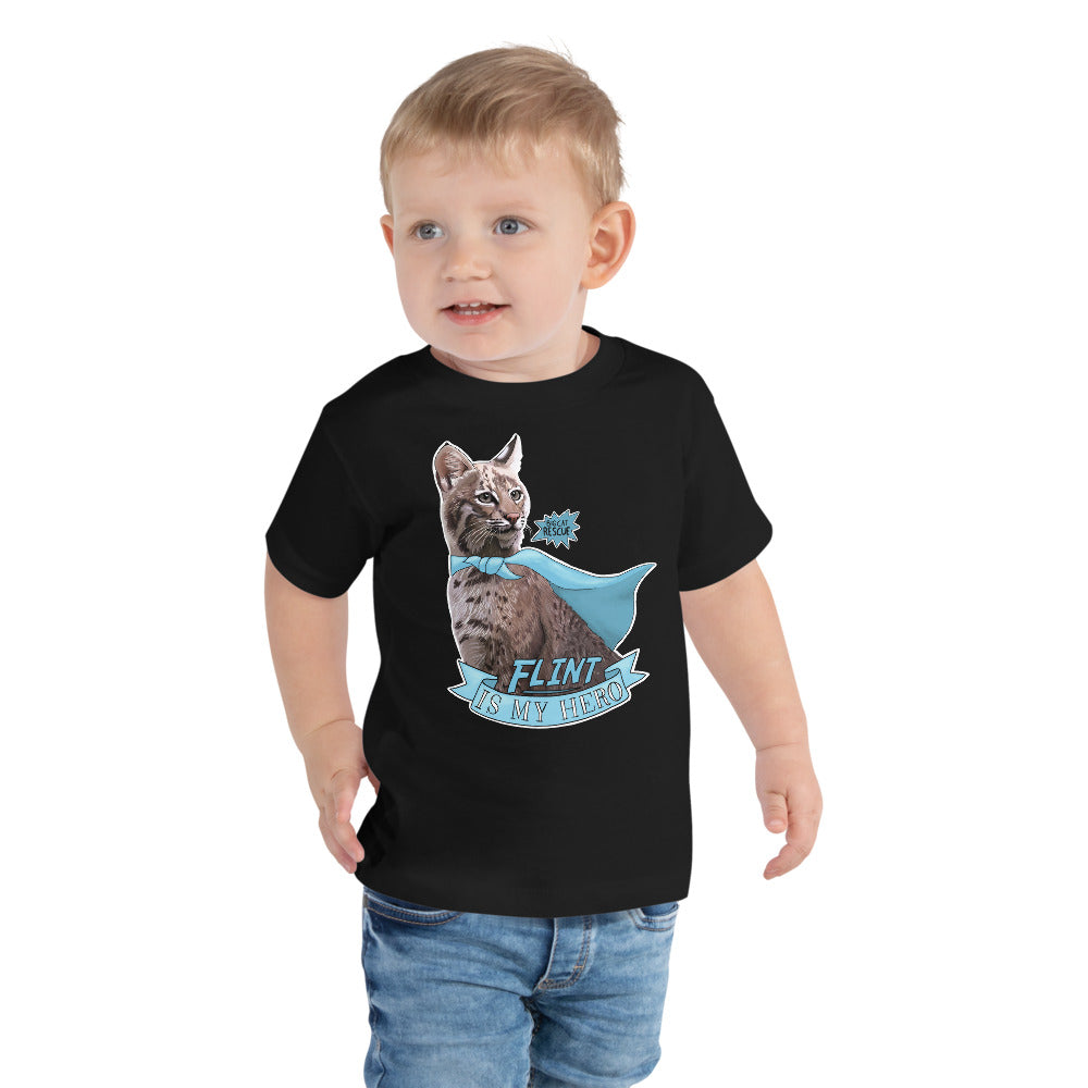 Kids Shirt - Flint Bobcat is my Hero Toddler Tee