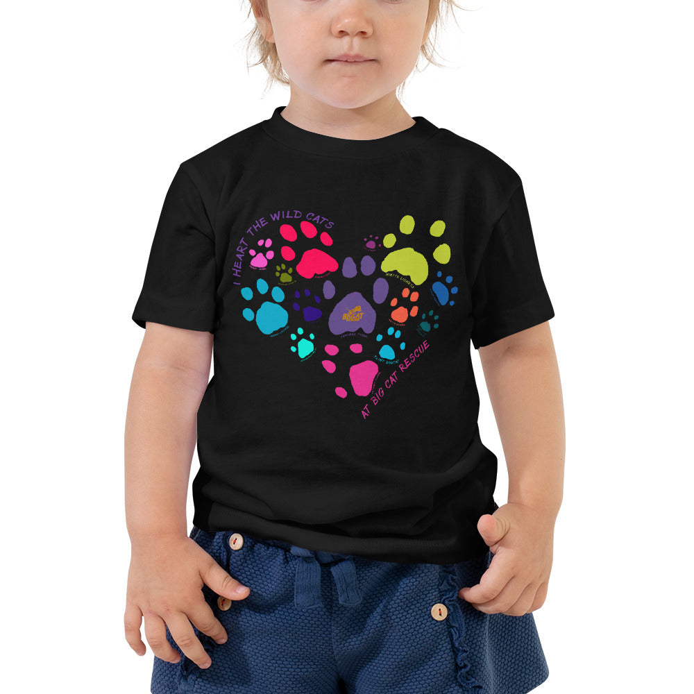 Kids Shirt - I Heart Big Cats Toddler Tee