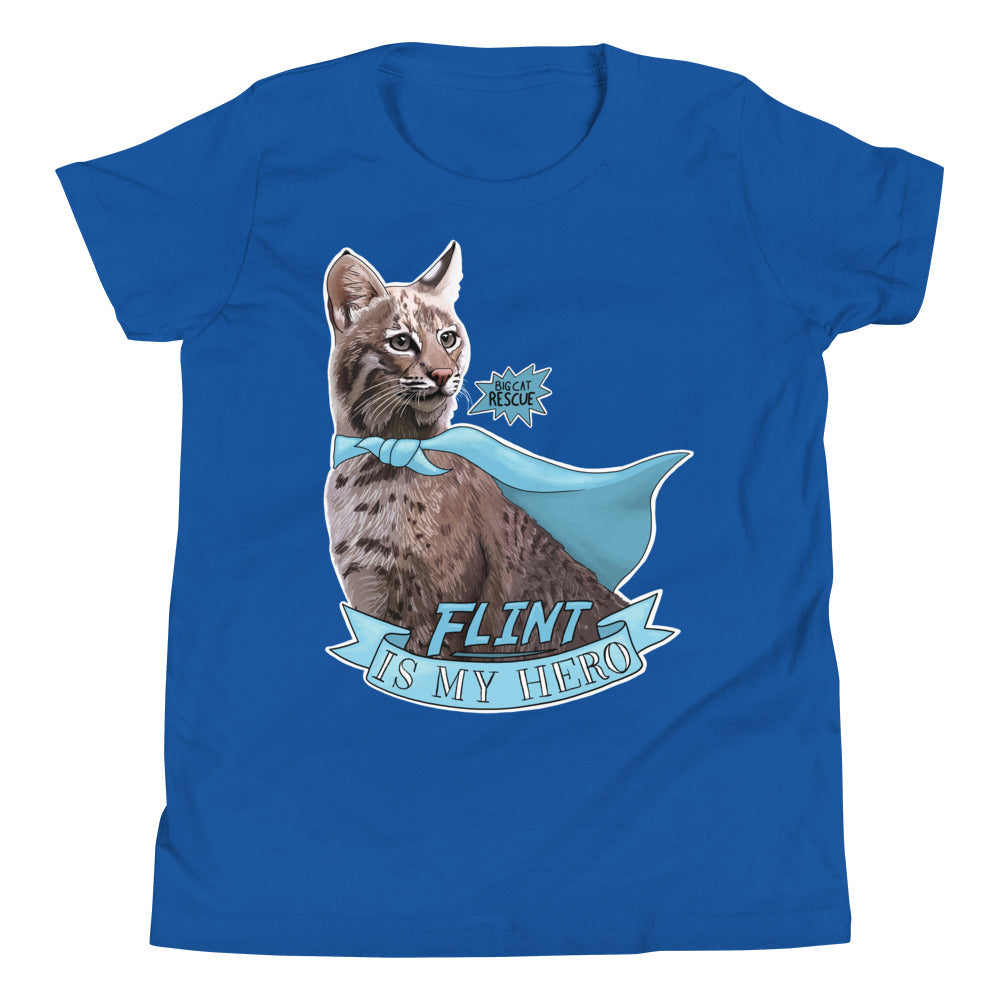 Kids Shirt - Flint Bobcat is my Hero Youth Tee