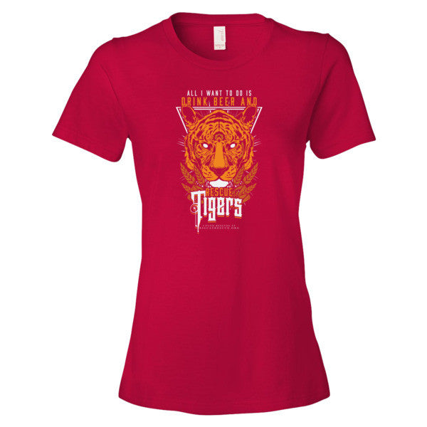 Shirt - Drink Beer & Rescue Tigers Women's