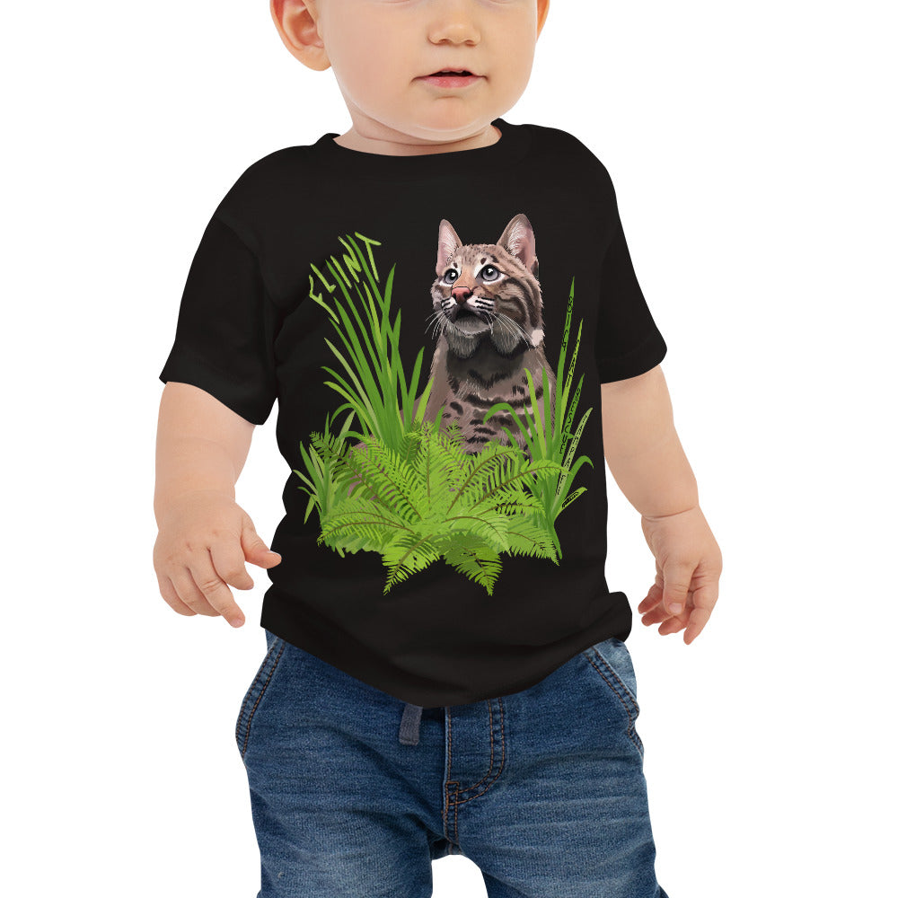 Kids Shirt - Flint the Curious Bobcat Baby Tee