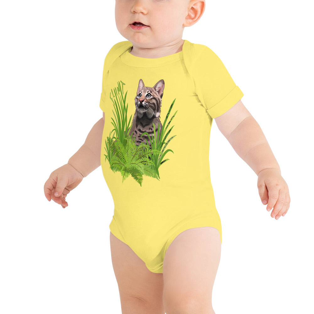 Baby - Flint the Curious Bobcat Onesie