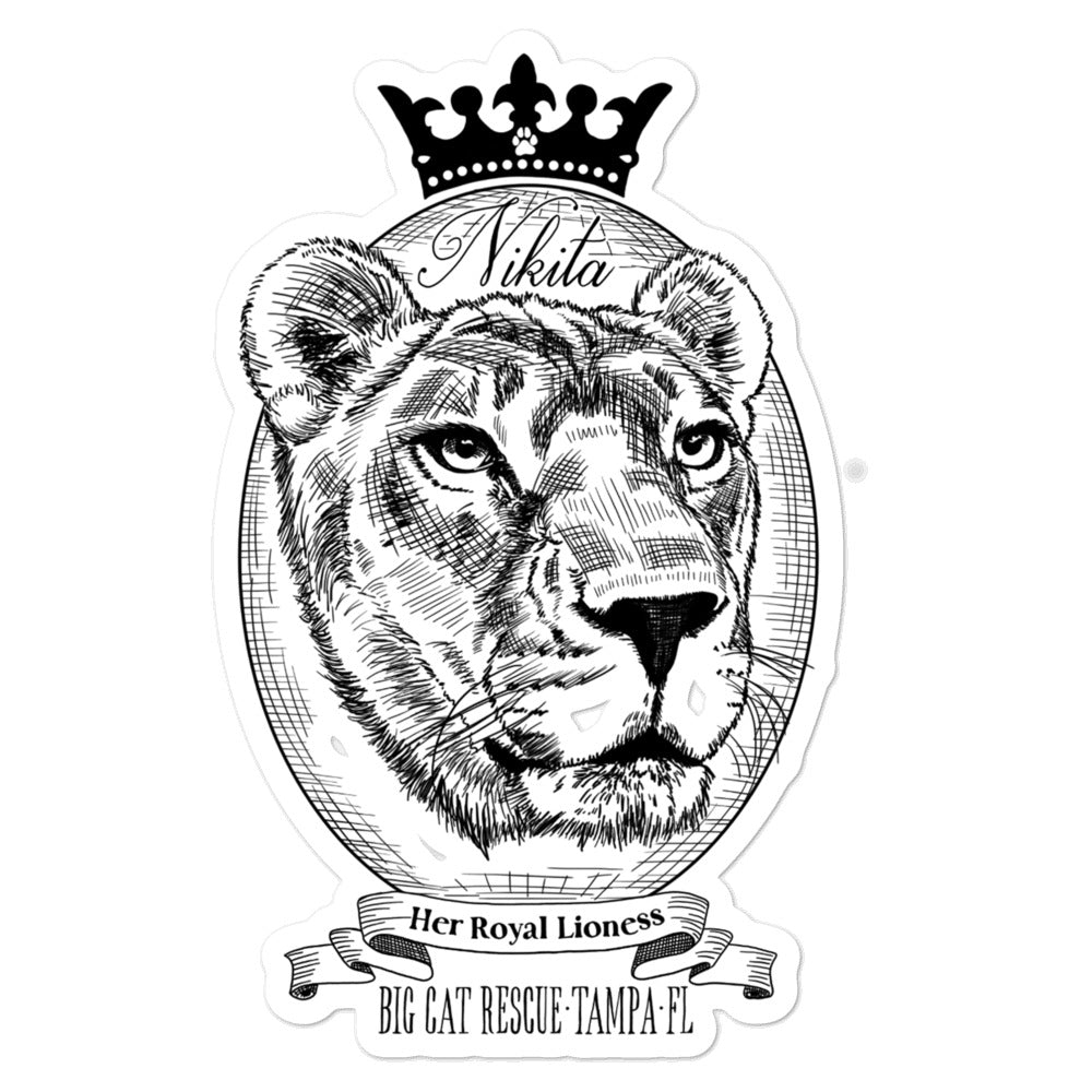 Sticker - Her Royal Lioness Nikita