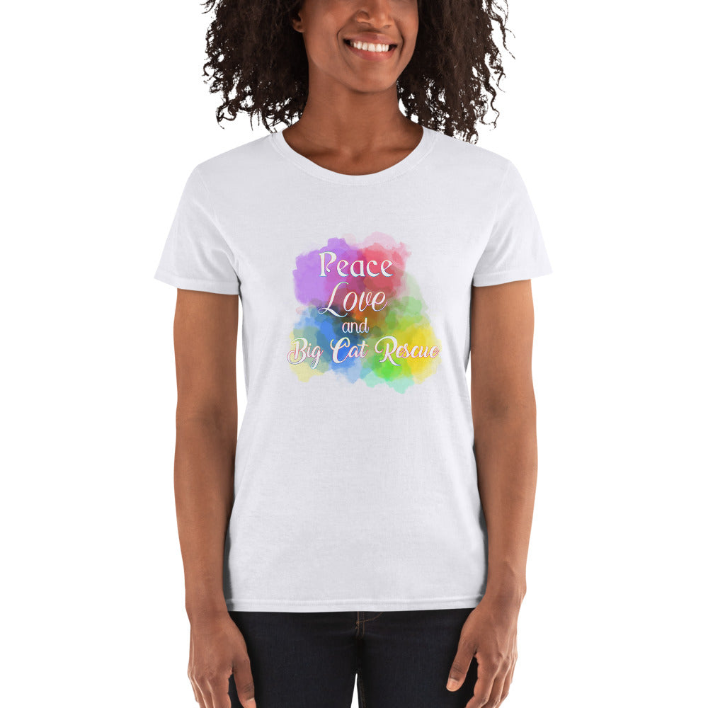 Shirt - Peace, Love & Big Cat Rescue Women's Scoop