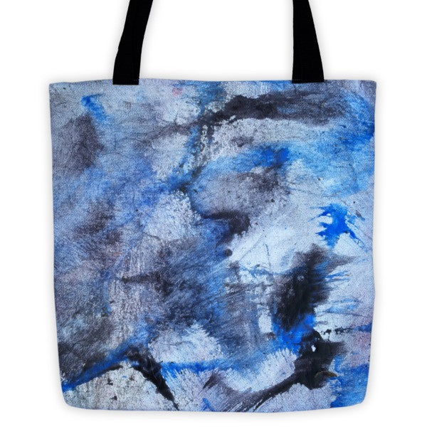 Bag - Blue Tiger Paw Painting Tote