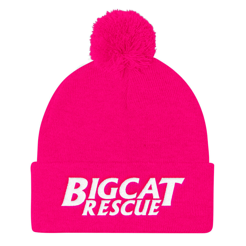 Cap - Embroidered BCR Logo Pom Pom Knit Hat