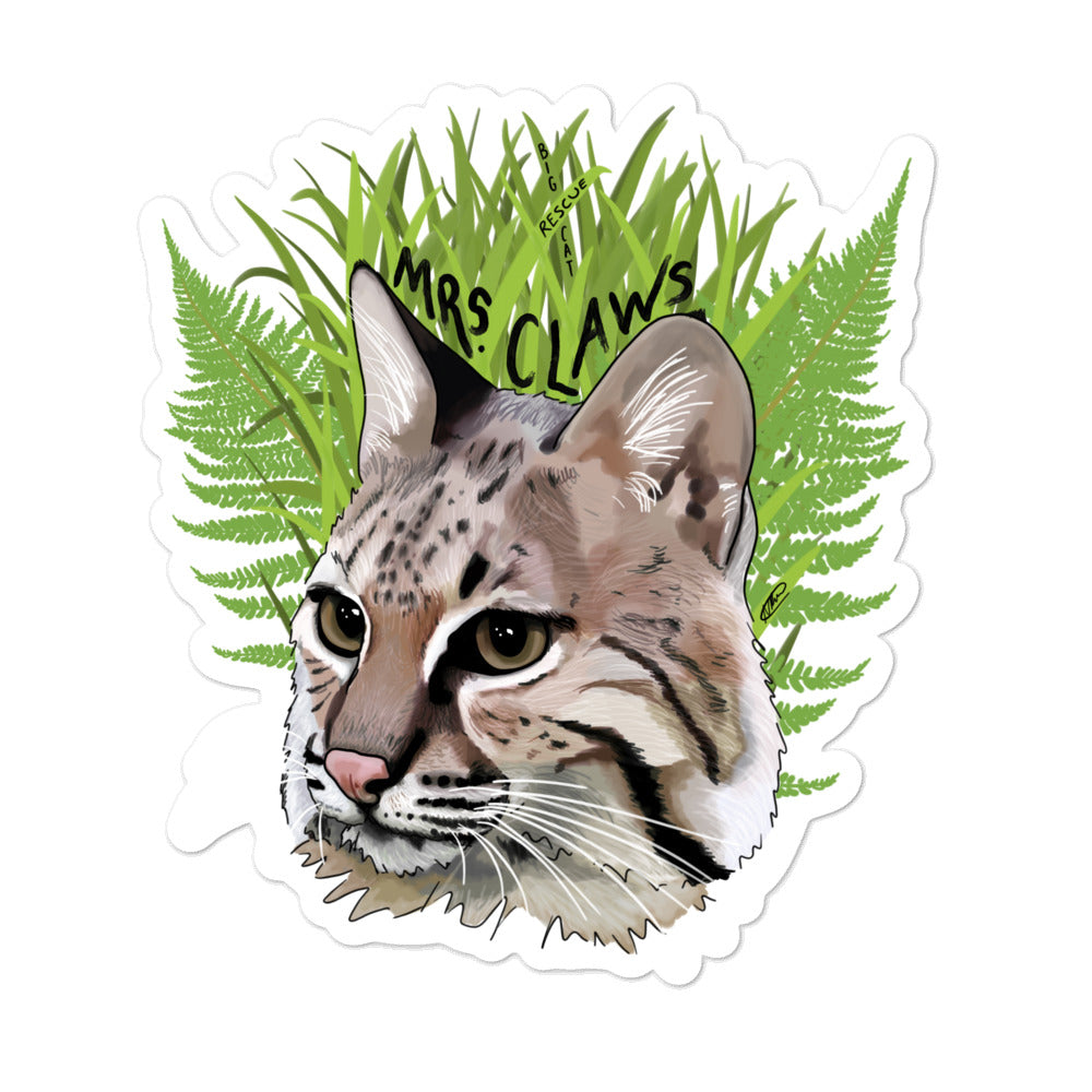 Sticker - Mrs. Claws Bobcat