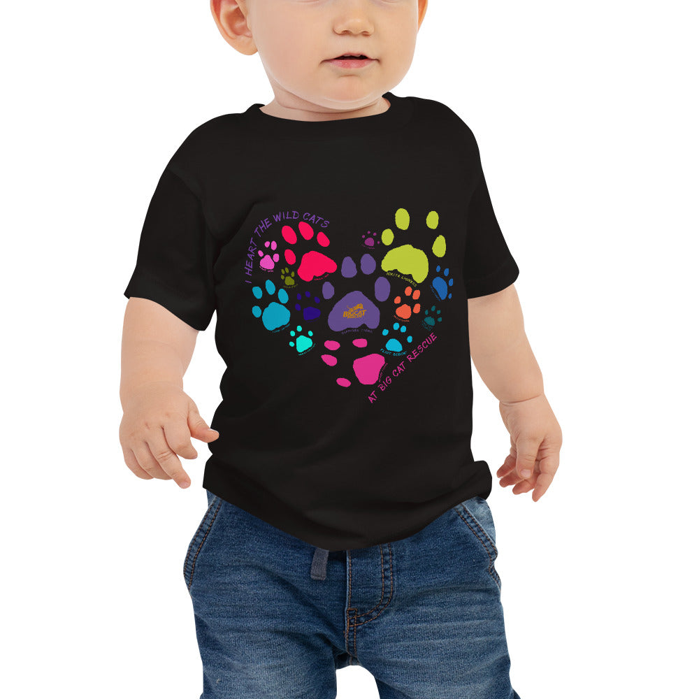Kids Shirt - I Heart Big Cats Baby Tee