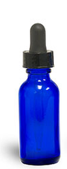 Cobalt Glass Bottle with Dropper - 2oz