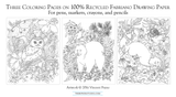 Flora and Fauna Coloring Pages Set