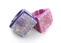 Druzy Crystal Rings
