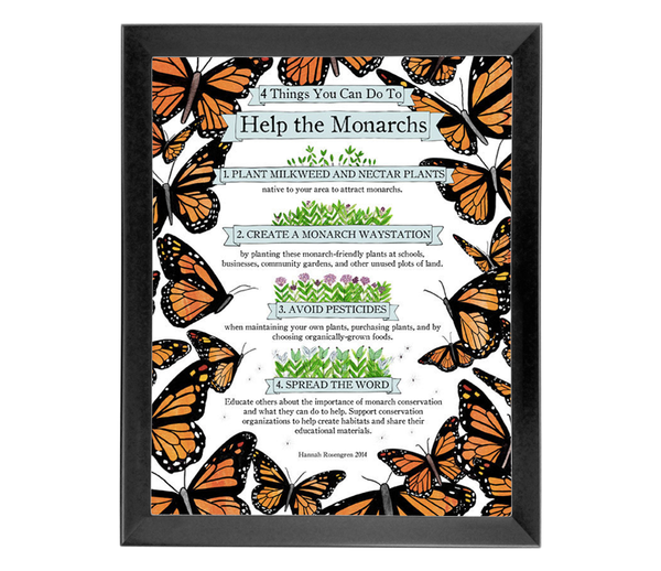 Help the Monarchs - Poster