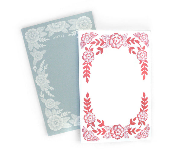 Block Print Floral Notepads