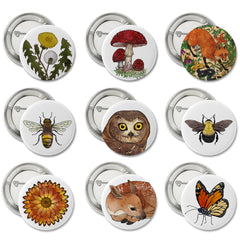 "1"" Button Pins - 9 Designs to Choose From!"