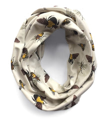 Bumble, Honey, & Squash Bees Infinity Scarf