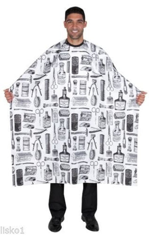 "STYLING CAPE BETTY DAIN #188S Hair cutting/styling cloth barber cape,  45"" x 60"" long BLACK OR WHITE"