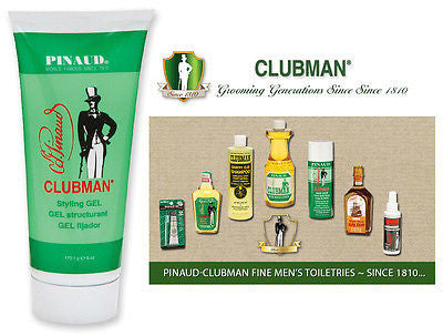 Clubman Pinuad Men's Styling Gel Hair Grooming, Conditions    3.75 oz.