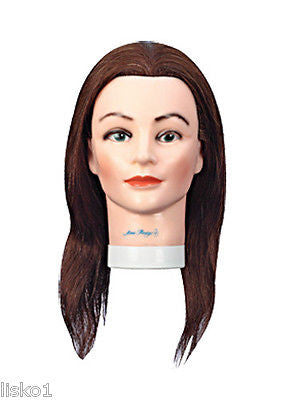 "Morris Flamingo #n8262 ""Amy"" 100% Human Hair 18""-20"" rubber Manikin Head  LMS"