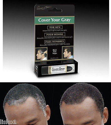 Irene Gari - Mens Cover Your Gray touch-up hair color stick   .15oz.  Black