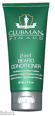 Clubman Pinuad  2-in-1 Beard conditioner and Facial moisturizer, Classic scent