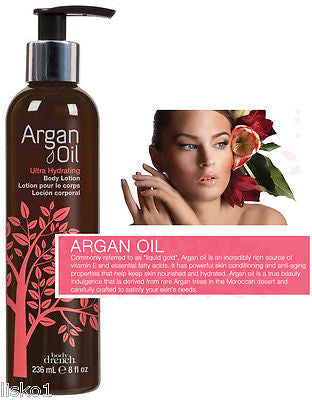 BODY LOTION BODY DRENCH  Argan Oil Ultra-Hydrating Body Lotion   8 oz.  Pump Bottle