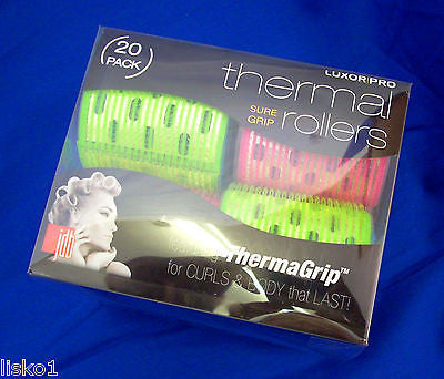 Velcro ThermaGrip Hair Roller Set By Luxor Pro  20 per set