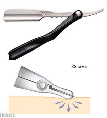 JATAI  Feather Artist Club SS Folding Shaving Razor , Premium stainless steel