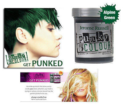 Jerome Russell Punky semi-permanent conditioning hair color,  3.5 oz.(alpine gr)