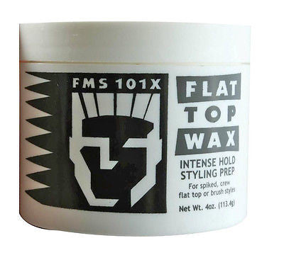 FLAT TOP WAX FMS 101X FLAT TOP WAX FOR SPIKED, CREW AND FLAT TOP HAIR STYLES 4 OZ. JAR