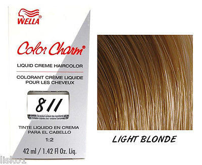 WELLA Color Charm  Liquid Creme Haircolor,  811/8N Light Blonde 1.42 oz.  LMS