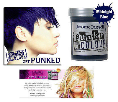 Jerome Russell Punky semi-permanent conditioning hair color,  3.5 oz.(mid-blue)