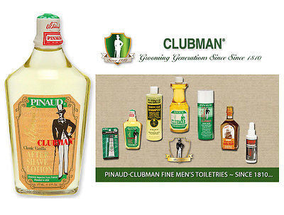Clubman Pinuad Men's Classic Vanilla Aftershave Colonge   6 oz.