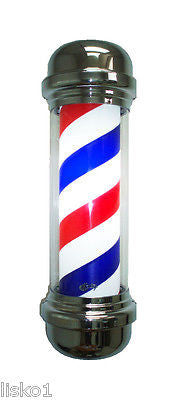 "YANAKI #YA2132S  NEW 28""  BARBER  POLE, FADE RESISTENT  CYLINDER, SPINS & LIGHTS"