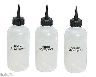 TINT BOTTLE 3 -  Hair Color Tint 6 oz. plastic applicator bottle, Needle Nose Spout     LMS