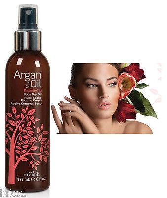 DRY BODY OIL BODY DRENCH  Argan Oil Emulsifying Body Dry OIl   6 oz.  Spray Bottle