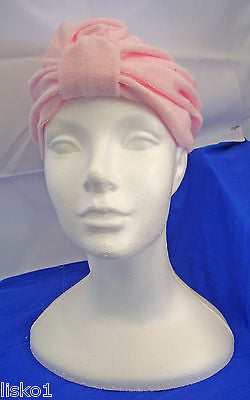 Womens Terry Cloth Turban, Chemotherapy-Cancer Head wrap, Soft, fits all (pink)