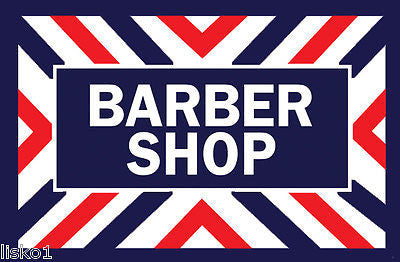 "BARBER SHOP ADVERTISING SIGN WINDOW DECAL , 17-1/2"" X  12"" TALL"