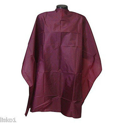 "Stylist Wear Hair stylist cutting cape w/velcro 45""x54"" Burgandy        lms"