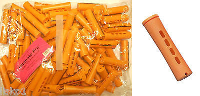 "PERM RODS 2 LB BAG, 3"" Long Tangarine Concave Hair Perm Rod  w/ elastic band       LMS"