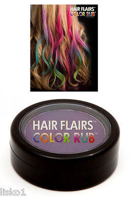 HAIR CHALK Hair Flairs Color Rub, Temporary Vibrant Fun Hair Colors   .14 oz. (purple) LMS